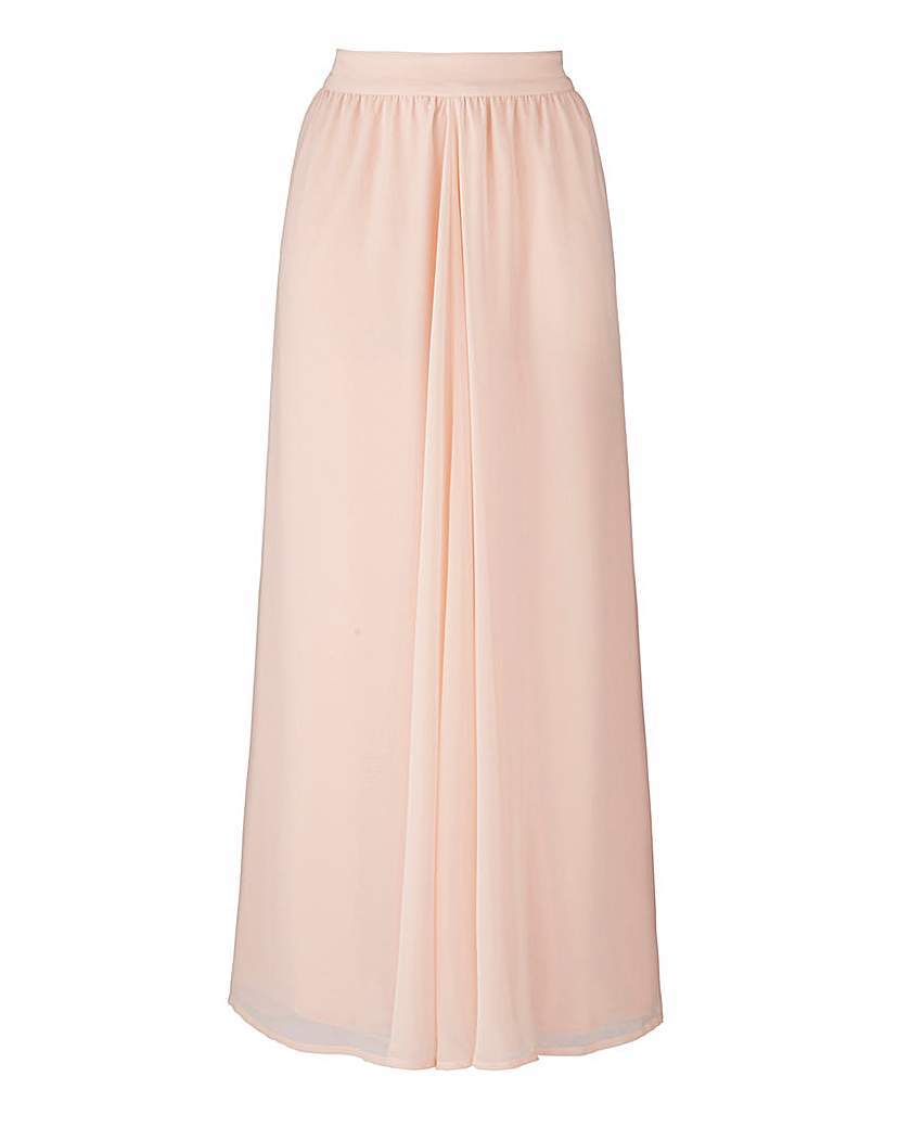 Floaty Maxi Skirt - pattern: plain; length: ankle length; fit: body skimming; waist: mid/regular rise; predominant colour: blush; occasions: evening; style: maxi skirt; fibres: polyester/polyamide - 100%; texture group: sheer fabrics/chiffon/organza etc.; pattern type: fabric; season: s/s 2016