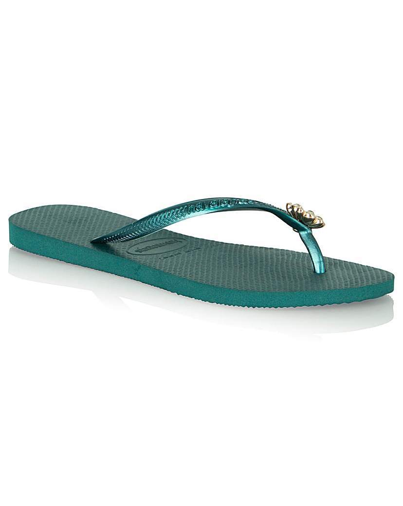 Crystal Poem Flip Flop - predominant colour: turquoise; material: plastic/rubber; heel height: flat; embellishment: crystals/glass; heel: block; toe: toe thongs; style: flip flops; occasions: holiday; finish: plain; pattern: plain; season: s/s 2016