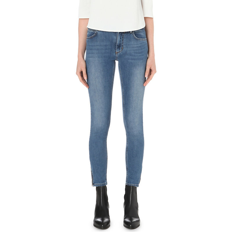 Pauline Skinny Mid Rise Jeans, Women's, Jean - style: skinny leg; length: standard; pattern: plain; pocket detail: traditional 5 pocket; waist: mid/regular rise; predominant colour: denim; occasions: casual; fibres: cotton - stretch; texture group: denim; pattern type: fabric; season: s/s 2016