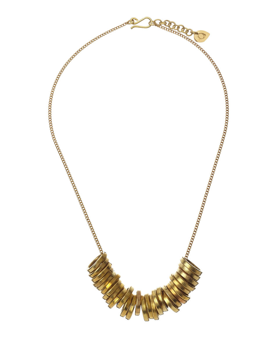 Made Circle Statement Necklace - predominant colour: gold; occasions: evening, occasion; length: mid; size: standard; material: chain/metal; finish: metallic; style: bib/statement; season: s/s 2016; wardrobe: event