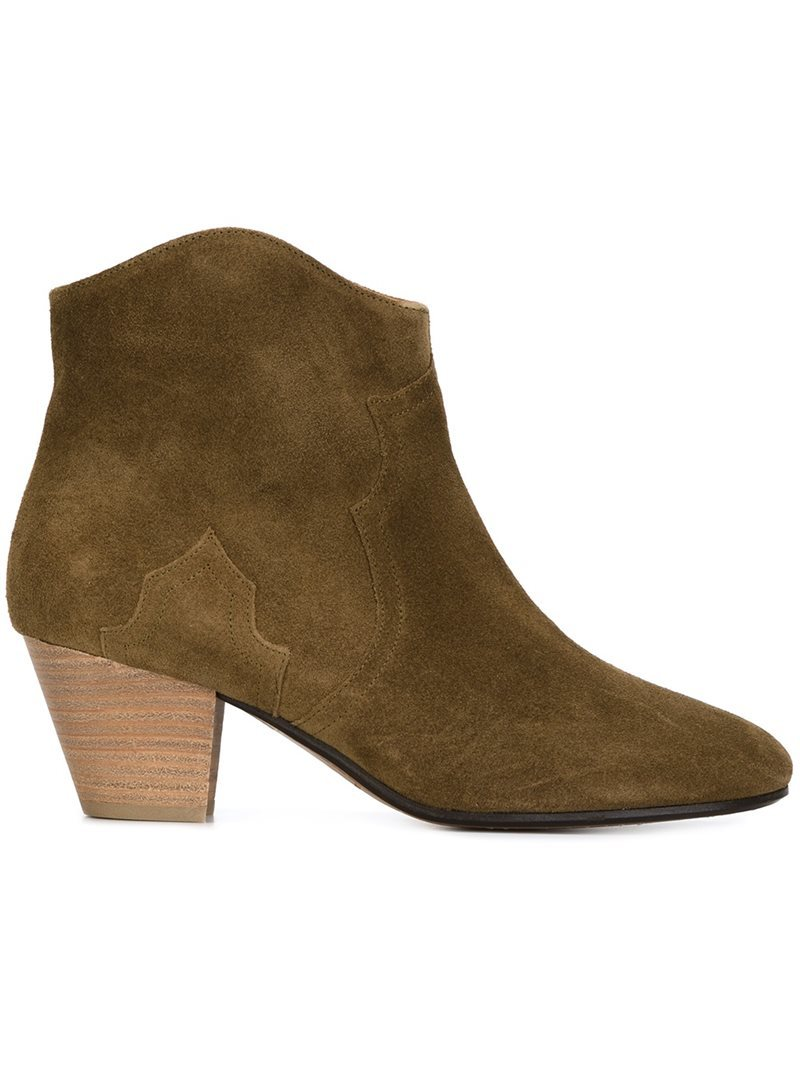 Étoile 'dicker' Ankle Boots, Women's, Size: 39, Brown - predominant colour: khaki; occasions: casual, creative work; material: suede; heel height: mid; heel: block; toe: round toe; boot length: ankle boot; style: standard; finish: plain; pattern: plain; season: s/s 2016; wardrobe: basic
