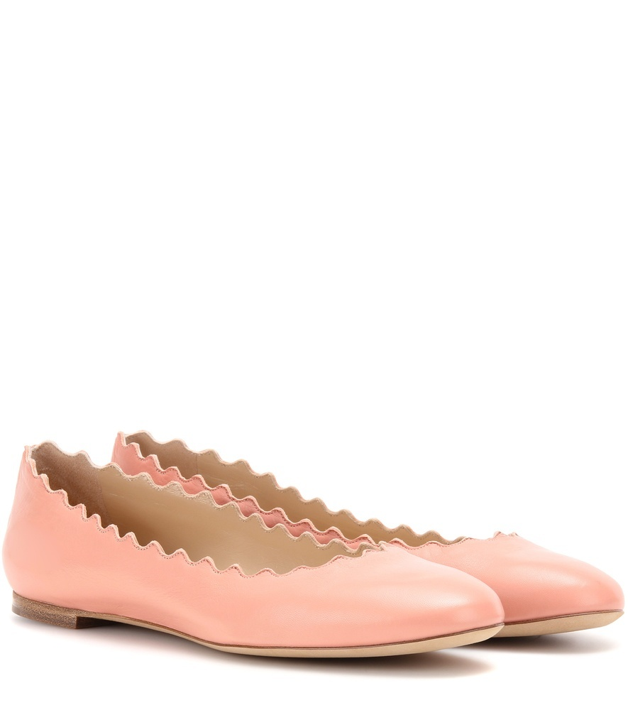Lauren Leather Ballerinas - predominant colour: coral; occasions: casual, creative work; material: leather; heel height: flat; toe: round toe; style: ballerinas / pumps; finish: plain; pattern: plain; season: s/s 2016; wardrobe: highlight