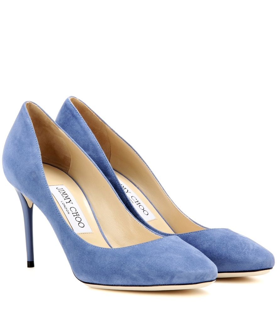 Esme 85 Suede Pumps - predominant colour: denim; occasions: evening, occasion, creative work; material: suede; heel height: high; heel: stiletto; toe: pointed toe; style: courts; finish: plain; pattern: plain; season: s/s 2016; wardrobe: highlight
