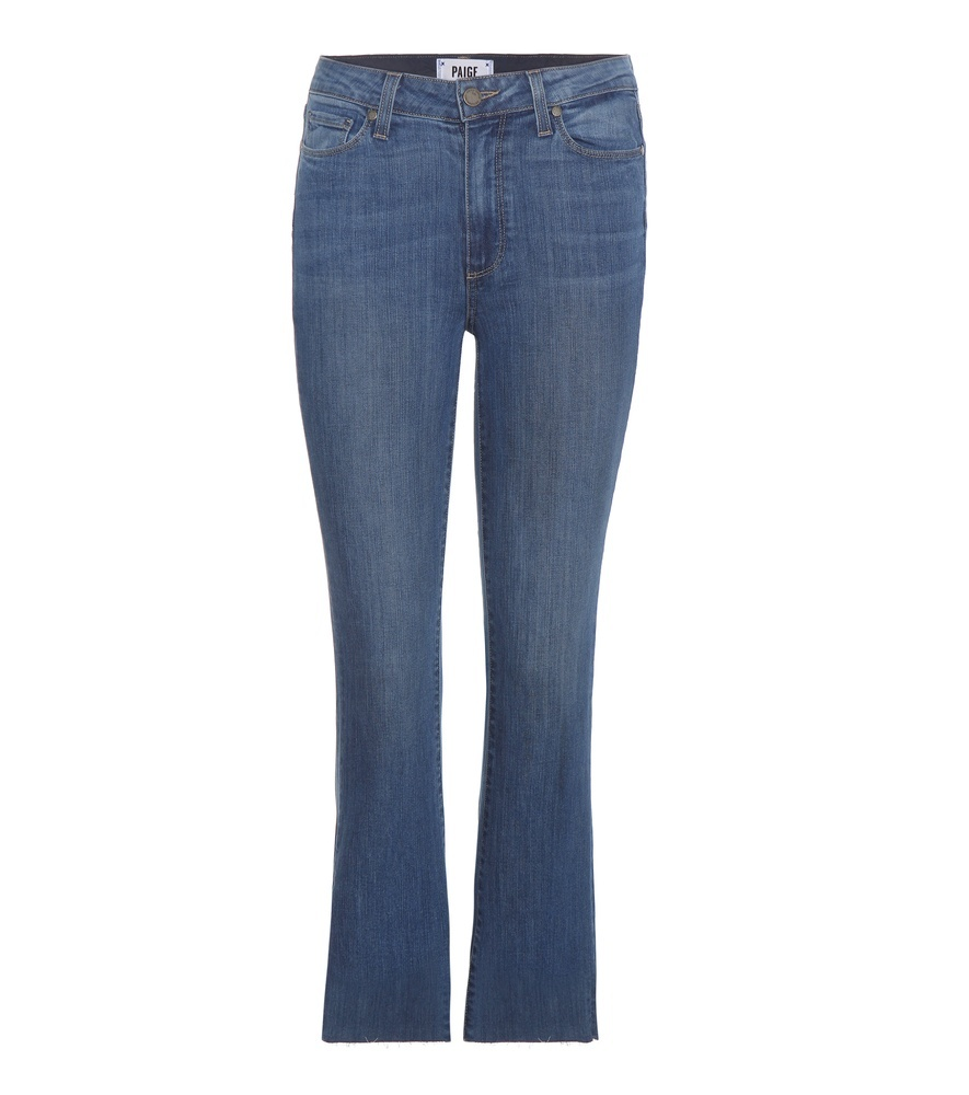 Colette Cropped Slim Flared Jeans - style: flares; length: standard; pattern: plain; pocket detail: traditional 5 pocket; waist: mid/regular rise; predominant colour: denim; occasions: casual; fibres: cotton - stretch; texture group: denim; pattern type: fabric; season: s/s 2016; wardrobe: basic