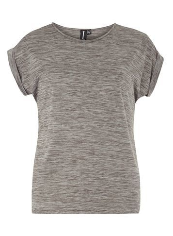 Womens **Izabel London Grey Dip Back Hem T Shirt Grey - pattern: plain; style: t-shirt; predominant colour: light grey; occasions: casual; length: standard; fibres: polyester/polyamide - 100%; fit: body skimming; neckline: crew; sleeve length: short sleeve; sleeve style: standard; pattern type: fabric; texture group: jersey - stretchy/drapey; season: s/s 2016