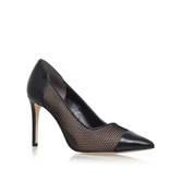 Leilah Pump - predominant colour: black; occasions: evening, occasion, creative work; material: leather; heel height: high; heel: stiletto; toe: pointed toe; style: courts; finish: plain; pattern: plain; embellishment: toe cap; season: s/s 2016; wardrobe: highlight