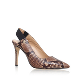 Lillian Sling - secondary colour: taupe; predominant colour: black; occasions: evening, occasion, creative work; material: leather; heel height: high; heel: stiletto; toe: pointed toe; style: courts; finish: plain; pattern: animal print; season: s/s 2016