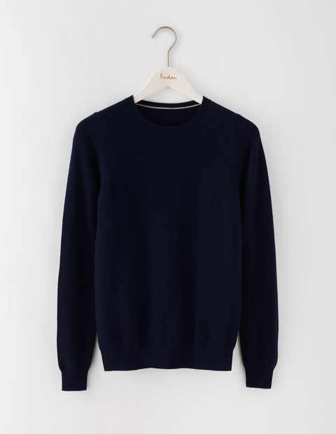 Cashmere Crew Neck Jumper Navy Women, Navy - pattern: plain; style: standard; predominant colour: navy; occasions: casual; length: standard; fit: standard fit; neckline: crew; fibres: cashmere - 100%; sleeve length: long sleeve; sleeve style: standard; texture group: knits/crochet; pattern type: knitted - fine stitch; season: s/s 2016