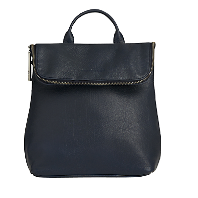 Mini Verity Leather Backpack - predominant colour: navy; occasions: casual, creative work; type of pattern: standard; style: tote; length: rucksack; size: standard; material: leather; pattern: plain; finish: plain; season: s/s 2016