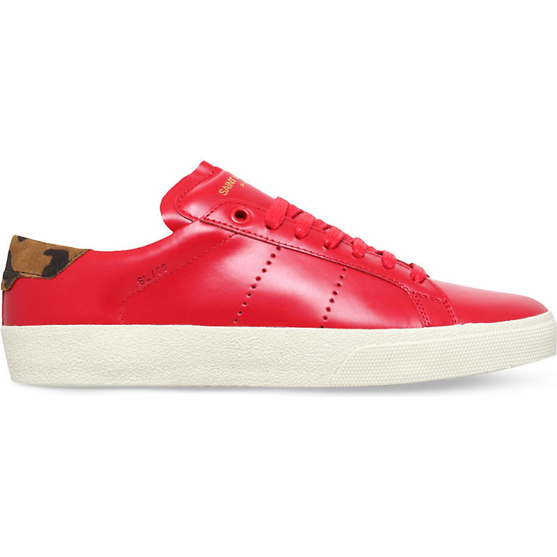 Court Classic Leather Trainers, Women's, Eur 39.5 / 6.5 Uk Women, Red - predominant colour: true red; occasions: casual; material: leather; heel height: flat; toe: round toe; style: trainers; finish: plain; pattern: plain; shoe detail: moulded soul; season: s/s 2016; wardrobe: highlight