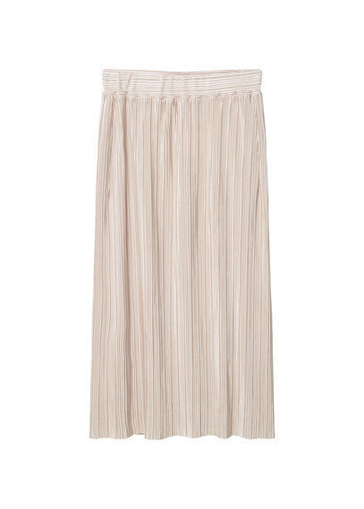 Pleated Midi Skirt - length: below the knee; pattern: plain; fit: body skimming; style: pleated; waist: mid/regular rise; predominant colour: blush; occasions: casual; fibres: polyester/polyamide - 100%; pattern type: fabric; texture group: other - light to midweight; season: s/s 2016; wardrobe: basic