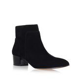 Lesly - predominant colour: black; occasions: casual, creative work; material: suede; heel height: mid; heel: standard; toe: round toe; boot length: ankle boot; style: standard; finish: plain; pattern: plain; season: s/s 2016