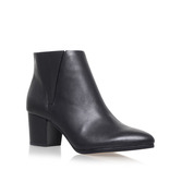 Brissa - predominant colour: black; occasions: casual, work, creative work; material: leather; heel height: high; heel: block; toe: pointed toe; boot length: ankle boot; style: standard; finish: plain; pattern: plain; season: s/s 2016; wardrobe: highlight