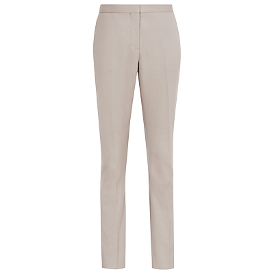Truman Tailored Trousers, Taupe - length: standard; pattern: plain; waist: mid/regular rise; predominant colour: stone; fibres: wool - stretch; waist detail: feature waist detail; fit: slim leg; pattern type: fabric; texture group: woven light midweight; style: standard; occasions: creative work; season: s/s 2016; wardrobe: basic