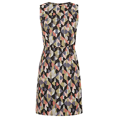 Diamond Ikat Shift Dress, Multi - style: shift; fit: tailored/fitted; sleeve style: sleeveless; waist detail: belted waist/tie at waist/drawstring; secondary colour: pink; predominant colour: charcoal; length: just above the knee; fibres: polyester/polyamide - 100%; neckline: crew; sleeve length: sleeveless; pattern type: fabric; pattern: patterned/print; texture group: woven light midweight; occasions: creative work; multicoloured: multicoloured; season: s/s 2016