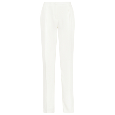 Cassie Tapered Trousers, Off White - length: standard; pattern: plain; style: peg leg; waist: mid/regular rise; predominant colour: ivory/cream; fibres: polyester/polyamide - 100%; texture group: crepes; fit: tapered; pattern type: fabric; occasions: creative work; season: s/s 2016
