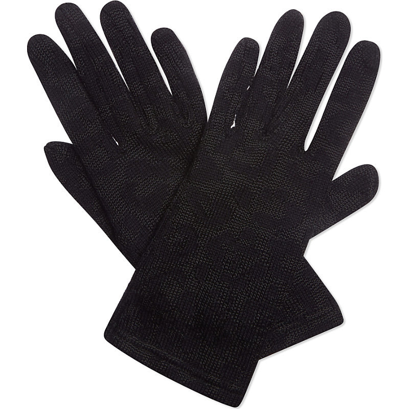Amoufle Gloves, Women's, Noir - predominant colour: black; occasions: casual, creative work; type of pattern: standard; style: standard; length: wrist; pattern: plain; material: cashmere; season: s/s 2016