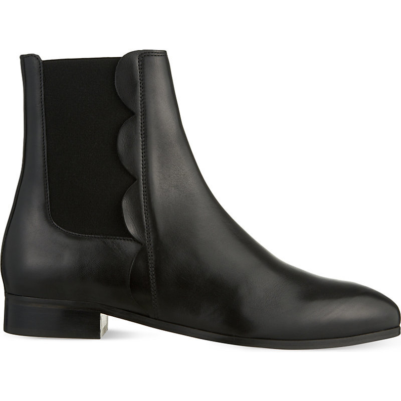 Ancolie Leather Chelsea Boots, Women's, Eur 39 / 6 Uk Women, Noir - predominant colour: black; occasions: casual; material: leather; heel height: flat; heel: standard; toe: round toe; boot length: ankle boot; finish: plain; pattern: plain; style: chelsea; season: s/s 2016; wardrobe: basic