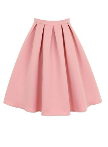 Womens **Chi Chi London Pink Midi Skirt Pink - length: below the knee; pattern: plain; fit: loose/voluminous; style: pleated; waist: high rise; predominant colour: pink; fibres: polyester/polyamide - 100%; occasions: occasion; hip detail: structured pleats at hip; pattern type: fabric; texture group: other - light to midweight; season: s/s 2016; wardrobe: event