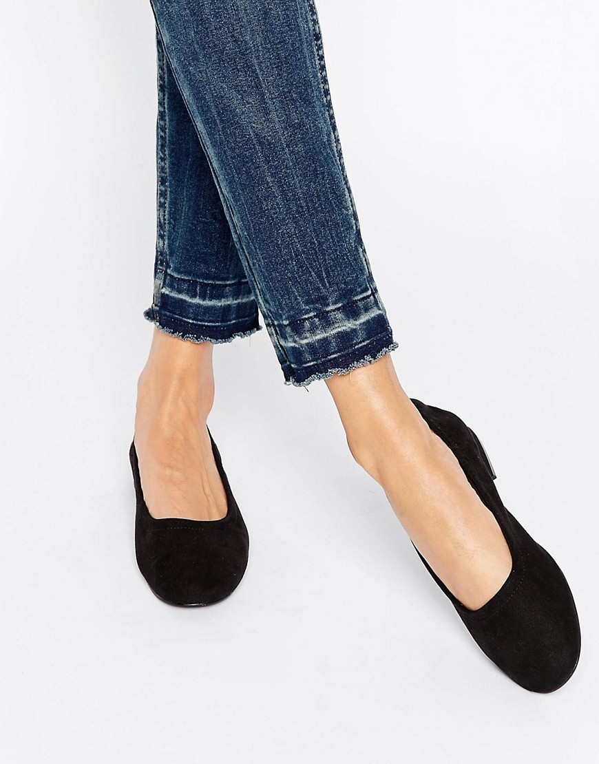 Lemonade Elasticated Ballet Flats Black - predominant colour: black; occasions: casual, creative work; material: fabric; heel height: flat; toe: round toe; style: ballerinas / pumps; finish: plain; pattern: plain; season: s/s 2016