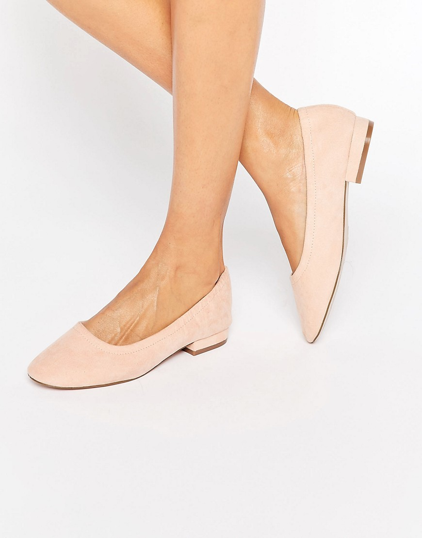 Lemonade Elasticated Ballet Flats Apricot - predominant colour: nude; occasions: casual, creative work; material: fabric; heel height: flat; toe: round toe; style: ballerinas / pumps; finish: plain; pattern: plain; season: s/s 2016; wardrobe: basic