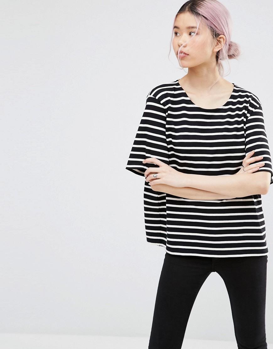 Old Sprice Striped Classic T Shirt Black/Vanilla Ice (0 - neckline: round neck; pattern: horizontal stripes; style: t-shirt; secondary colour: ivory/cream; predominant colour: black; occasions: casual; length: standard; fibres: cotton - 100%; fit: loose; sleeve length: half sleeve; sleeve style: standard; pattern type: fabric; texture group: jersey - stretchy/drapey; pattern size: big & busy (top); season: s/s 2016
