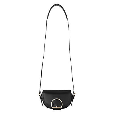 Bay Mini Buckle Satchel - secondary colour: gold; predominant colour: black; occasions: casual, creative work; type of pattern: standard; style: satchel; length: across body/long; size: standard; material: leather; pattern: plain; finish: plain; embellishment: buckles; season: s/s 2016