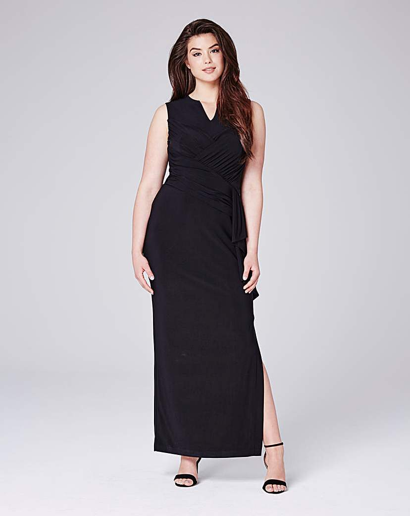 Graciello Jersey Maxi - neckline: v-neck; pattern: plain; sleeve style: sleeveless; style: maxi dress; length: ankle length; predominant colour: black; occasions: evening; fit: body skimming; fibres: polyester/polyamide - stretch; sleeve length: sleeveless; texture group: jersey - clingy; pattern type: fabric; season: s/s 2016; wardrobe: event