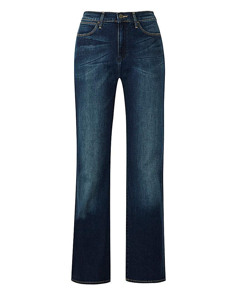 Tina Bootcut Jean L32 - style: bootcut; length: standard; pattern: plain; waist: high rise; pocket detail: traditional 5 pocket; predominant colour: navy; occasions: casual; fibres: cotton - stretch; jeans detail: shading down centre of thigh; texture group: denim; pattern type: fabric; season: s/s 2016; wardrobe: basic