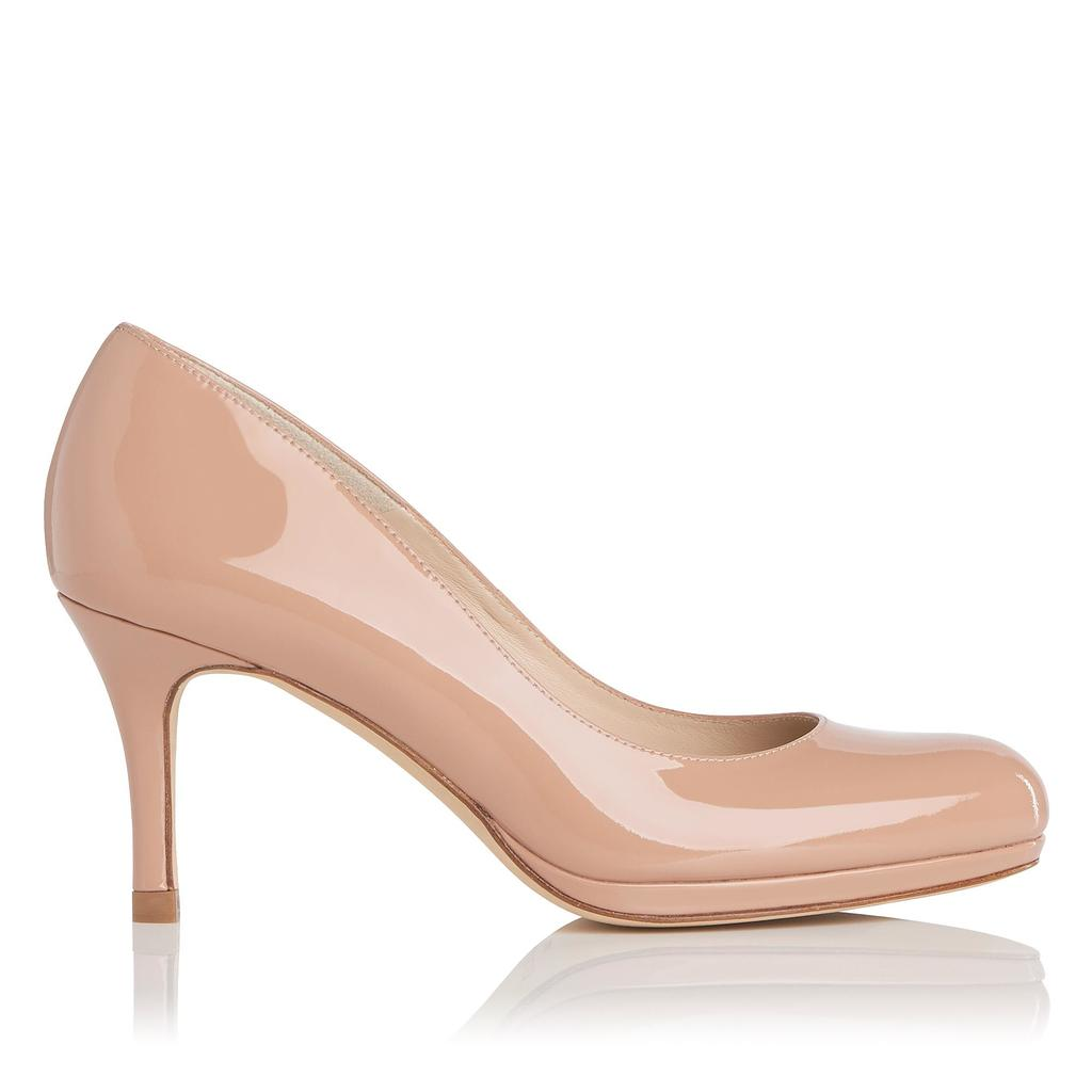 Sybila Fawn Patent Closed Courts Neutral Fawn - predominant colour: nude; occasions: evening; material: leather; heel height: high; heel: stiletto; toe: round toe; style: courts; finish: patent; pattern: plain; season: s/s 2016