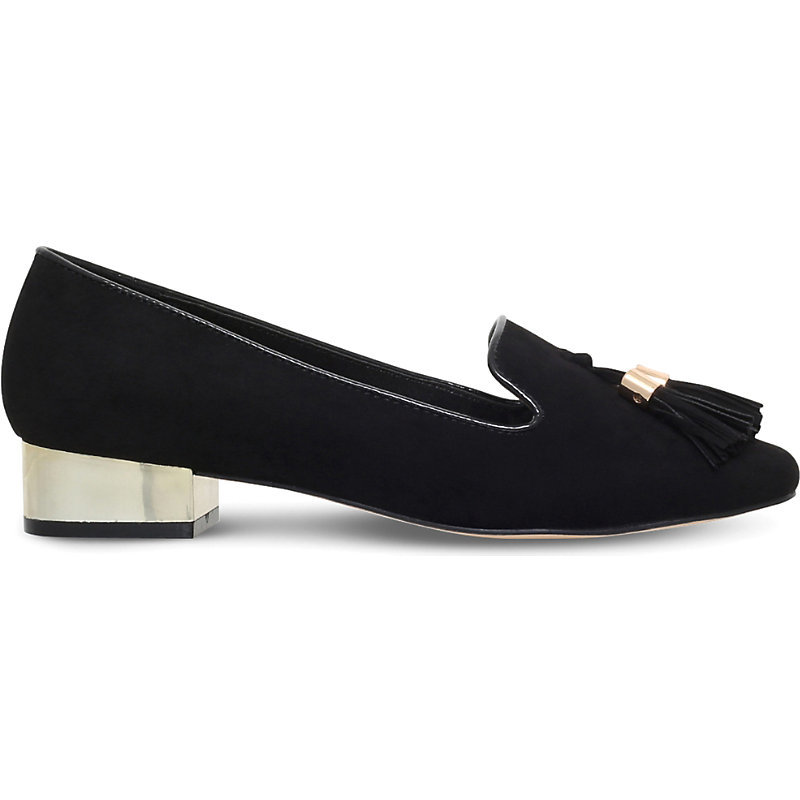 Neville Tasselled Suedette Loafers, Women's, Eur 39 / 6 Uk Women, Black - predominant colour: black; occasions: casual, creative work; heel height: flat; embellishment: tassels; toe: round toe; style: loafers; finish: plain; pattern: patterned/print; material: faux suede; season: s/s 2016; wardrobe: highlight