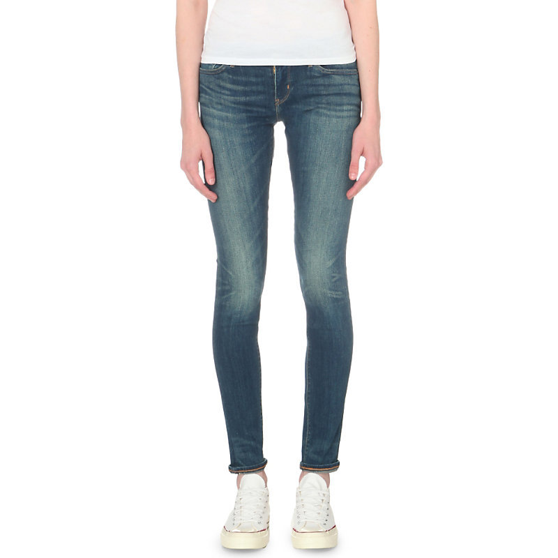 711 Skinny Mid Rise Jeans, Women's, Ressurection - style: skinny leg; length: standard; pattern: plain; pocket detail: traditional 5 pocket; waist: mid/regular rise; predominant colour: denim; occasions: casual; fibres: cotton - stretch; texture group: denim; pattern type: fabric; season: s/s 2016; wardrobe: basic