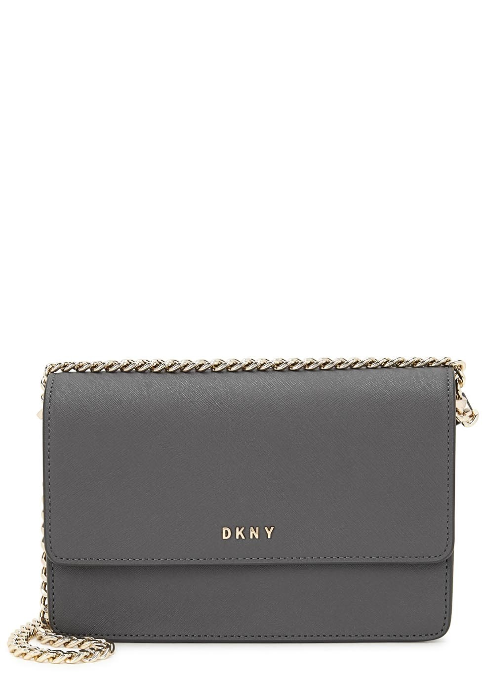 Bryant Park Dark Grey Leather Cross Body Bag - predominant colour: charcoal; occasions: casual, creative work; type of pattern: standard; style: shoulder; length: across body/long; size: standard; material: leather; pattern: plain; finish: plain; season: s/s 2016; wardrobe: investment