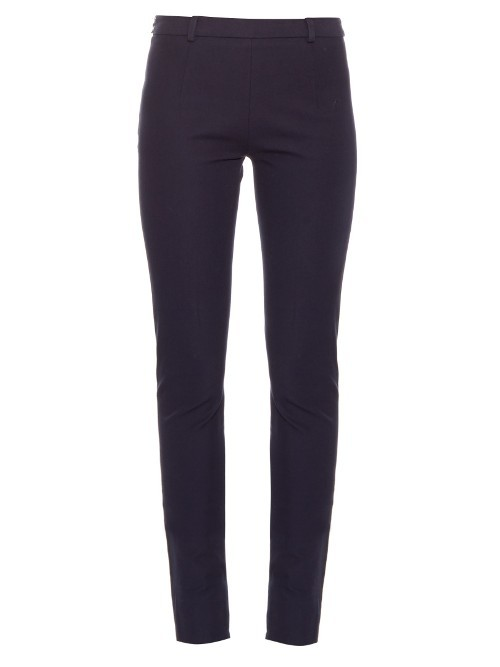 Mortimer Skinny Fit Trousers - length: standard; pattern: plain; waist: mid/regular rise; predominant colour: navy; occasions: casual, creative work; fibres: cotton - stretch; fit: skinny/tight leg; pattern type: fabric; texture group: woven light midweight; style: standard; season: s/s 2016