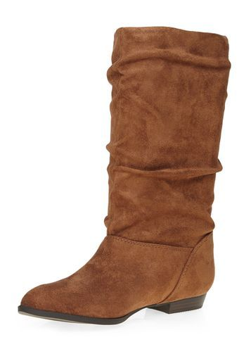 Womens 'tess' Tan Slouch Boots Brown - predominant colour: tan; occasions: casual, creative work; material: suede; heel height: flat; heel: block; toe: round toe; boot length: mid calf; style: standard; finish: plain; pattern: plain; season: s/s 2016; wardrobe: highlight