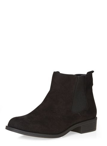 Womens Wide Fit Black 'whammy' Boots Black - predominant colour: black; occasions: casual; material: faux leather; heel height: flat; heel: standard; toe: round toe; boot length: ankle boot; style: standard; finish: plain; pattern: plain; season: s/s 2016; wardrobe: basic