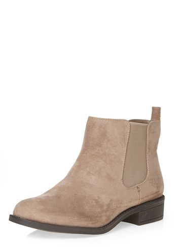 Womens Wide Fit Mink 'whammy' Boots Brown - predominant colour: stone; occasions: casual, creative work; material: suede; heel height: mid; heel: block; toe: round toe; boot length: ankle boot; style: standard; finish: plain; pattern: plain; season: s/s 2016; wardrobe: basic