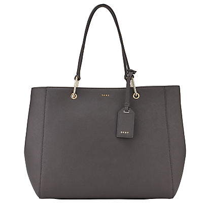 Bryant Park Saffiano Leather Tote Bag - predominant colour: charcoal; occasions: work, creative work; type of pattern: standard; style: tote; length: handle; size: standard; material: leather; pattern: plain; finish: plain; season: s/s 2016