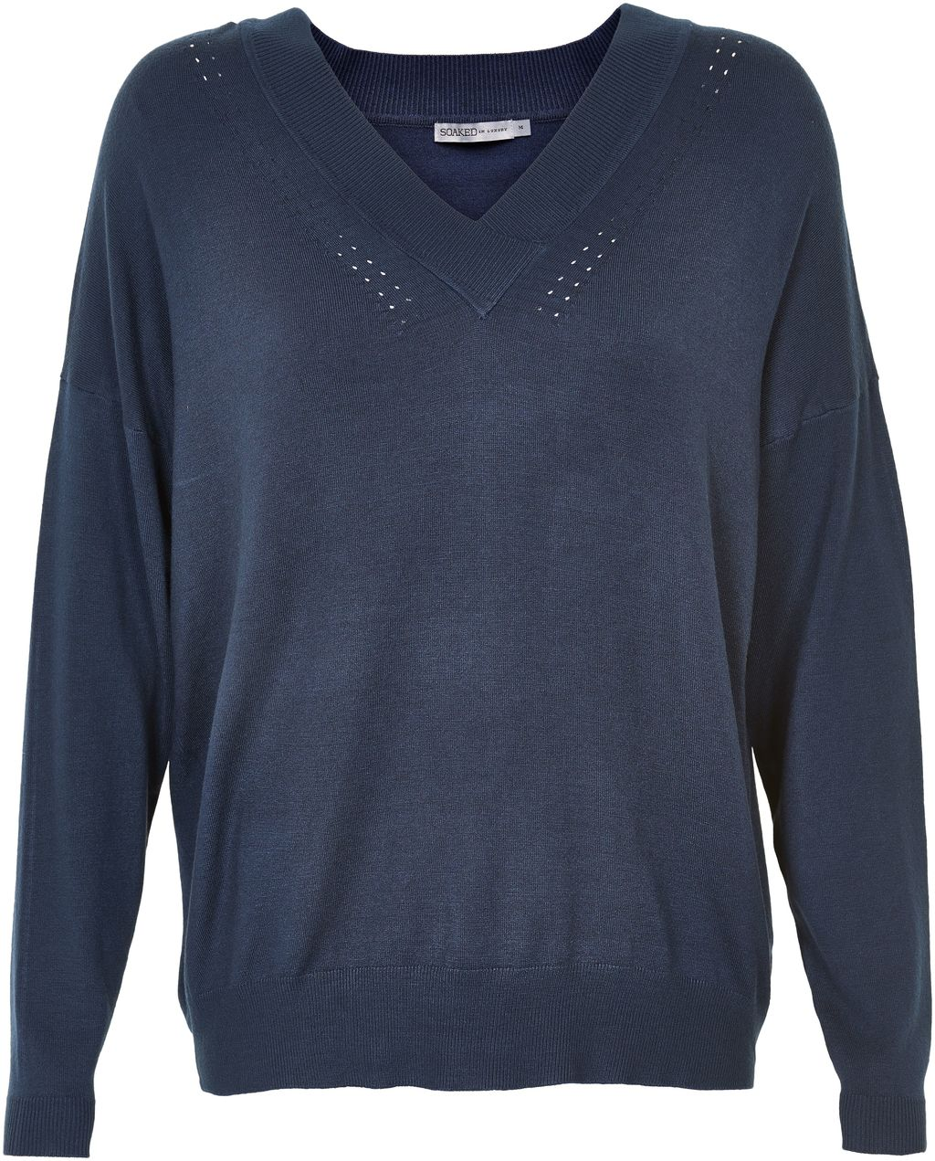 Oversized V Neck Jumper, Navy - neckline: v-neck; pattern: plain; length: below the bottom; style: standard; predominant colour: navy; occasions: casual, creative work; fibres: viscose/rayon - stretch; fit: loose; sleeve length: long sleeve; sleeve style: standard; texture group: knits/crochet; pattern type: knitted - fine stitch; season: s/s 2016; wardrobe: basic