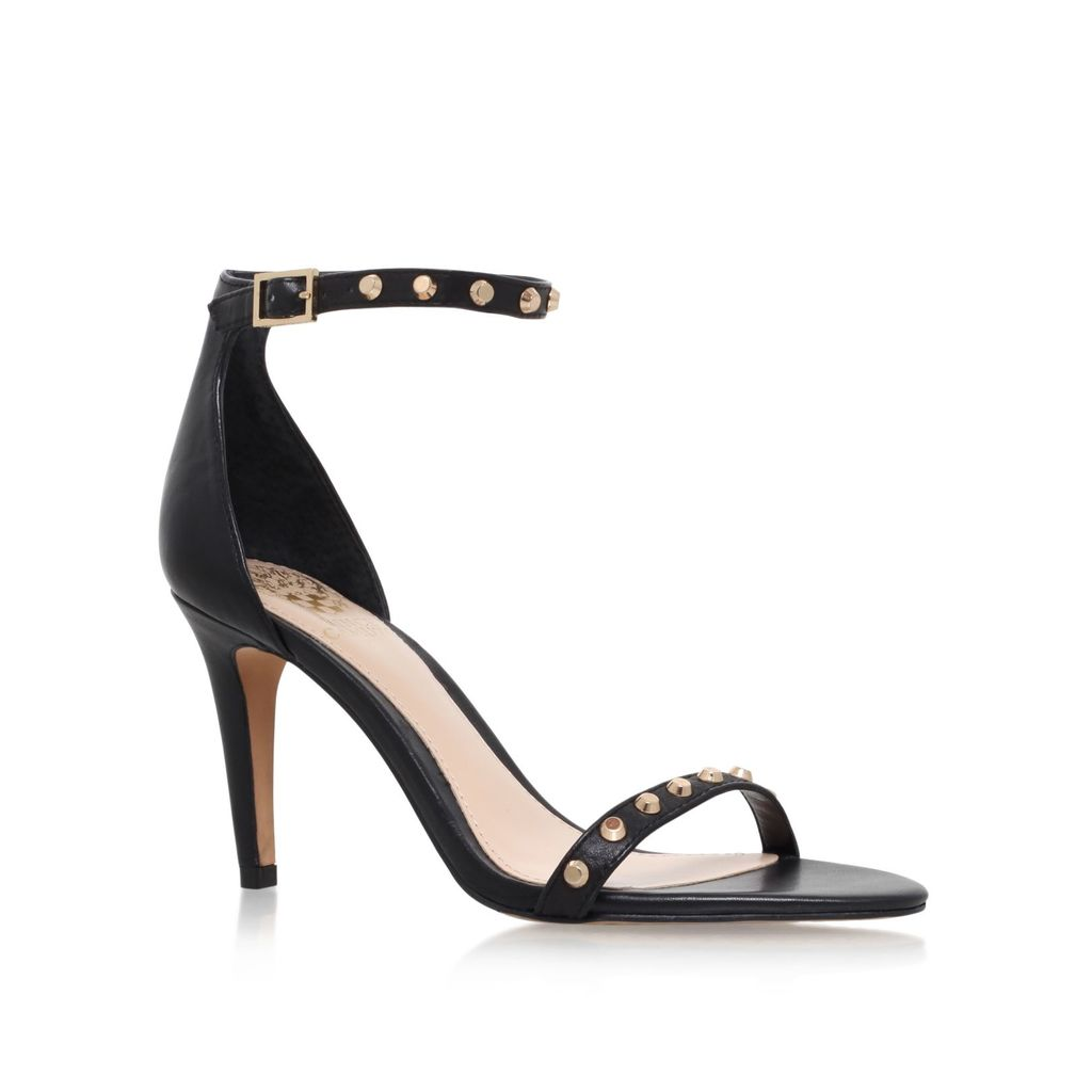 Cassandy High Heel Sandals, Black - predominant colour: black; occasions: evening, occasion; material: suede; heel height: high; embellishment: studs; ankle detail: ankle strap; heel: stiletto; toe: open toe/peeptoe; style: strappy; finish: plain; pattern: plain; season: s/s 2016