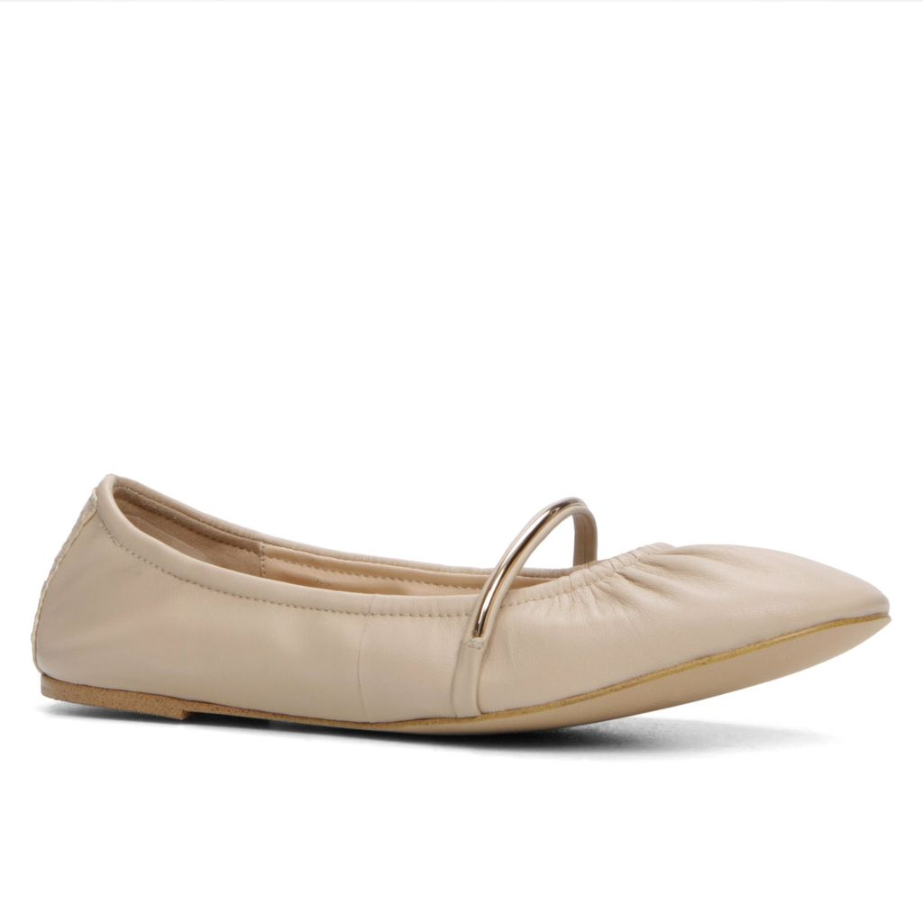 Cavizano Flats Ballerina Shoes, Bone - predominant colour: ivory/cream; secondary colour: stone; occasions: casual, creative work; material: leather; heel height: flat; toe: round toe; style: ballerinas / pumps; finish: plain; pattern: plain; season: s/s 2016; wardrobe: basic