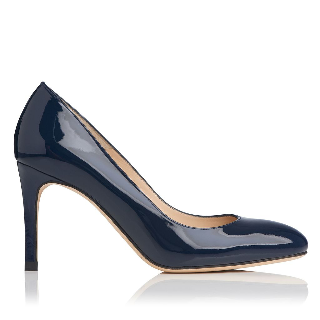 Sasha Closed Courts Shoes, Navy - predominant colour: navy; occasions: evening, work; material: leather; heel height: high; heel: stiletto; toe: round toe; style: courts; finish: patent; pattern: plain; season: s/s 2016; wardrobe: investment