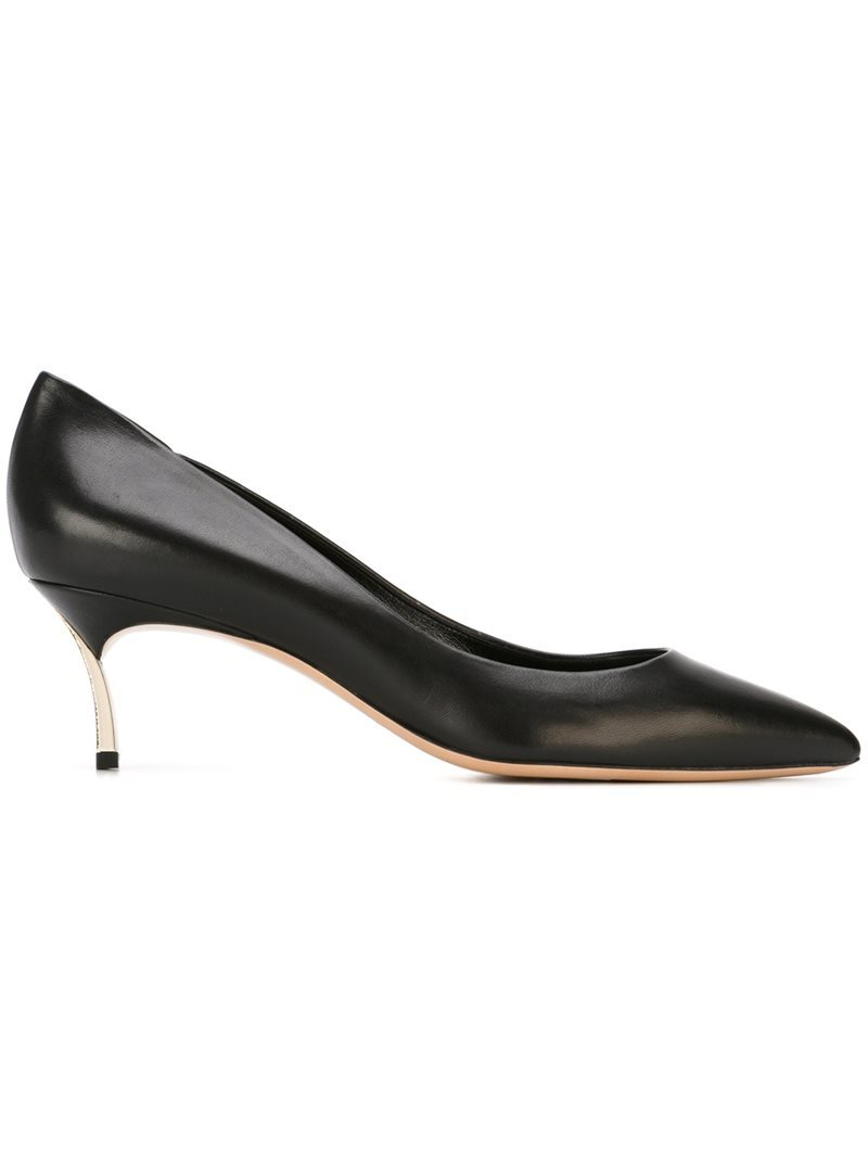 Pointed Toe Pumps, Women's, Black - predominant colour: tan; occasions: evening, work, occasion; material: leather; heel height: mid; heel: stiletto; toe: pointed toe; style: courts; finish: patent; pattern: plain; season: s/s 2016; wardrobe: highlight