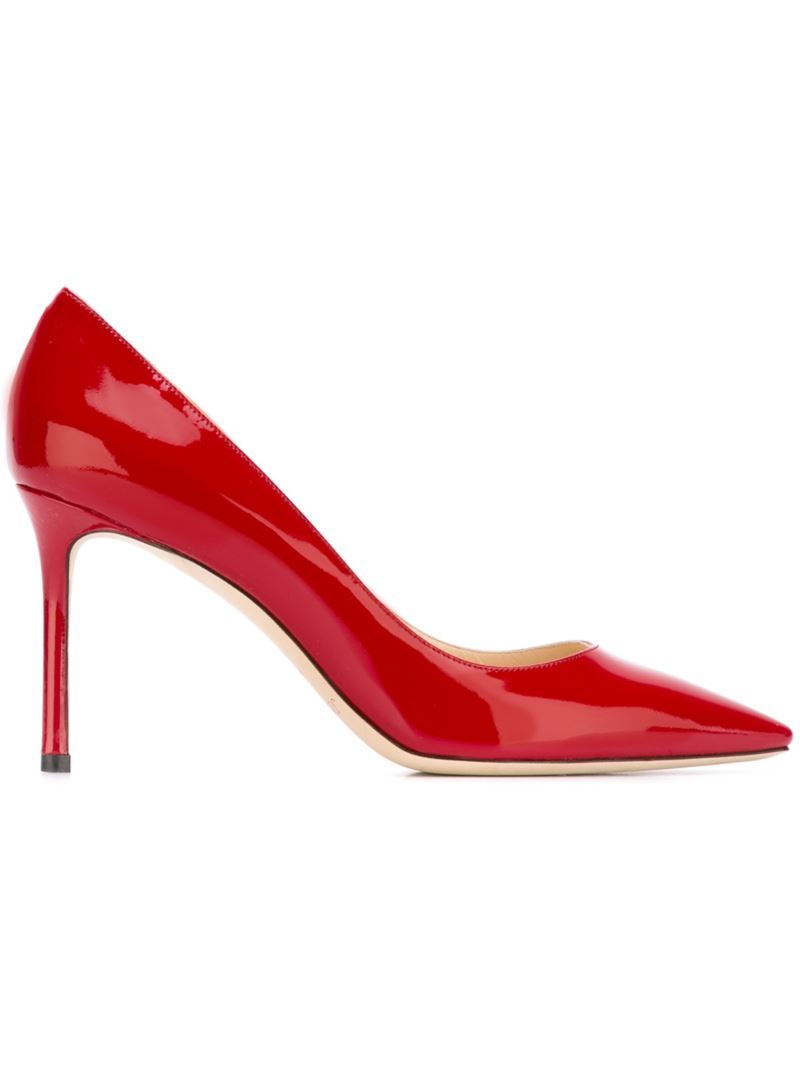 'romy 85' Pumps, Women's, Size: 37, Red - predominant colour: true red; occasions: evening, occasion, creative work; material: leather; heel: stiletto; toe: pointed toe; style: courts; finish: patent; pattern: plain; heel height: very high; season: s/s 2016; wardrobe: highlight