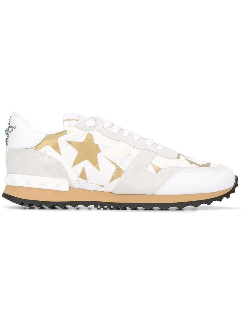 'rockrunner Camustars' Sneakers, Women's, White - predominant colour: white; occasions: casual, activity; material: suede; heel height: flat; toe: round toe; style: trainers; finish: plain; pattern: patterned/print; shoe detail: tread; season: s/s 2016