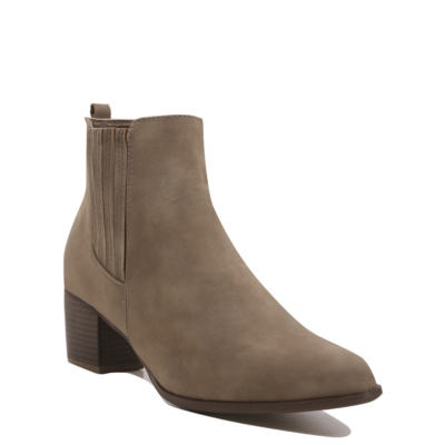 Chelsea Ankle Boots Khaki - predominant colour: khaki; occasions: casual, creative work; material: suede; heel height: mid; heel: block; toe: round toe; boot length: ankle boot; finish: plain; pattern: plain; style: chelsea; season: s/s 2016; wardrobe: basic