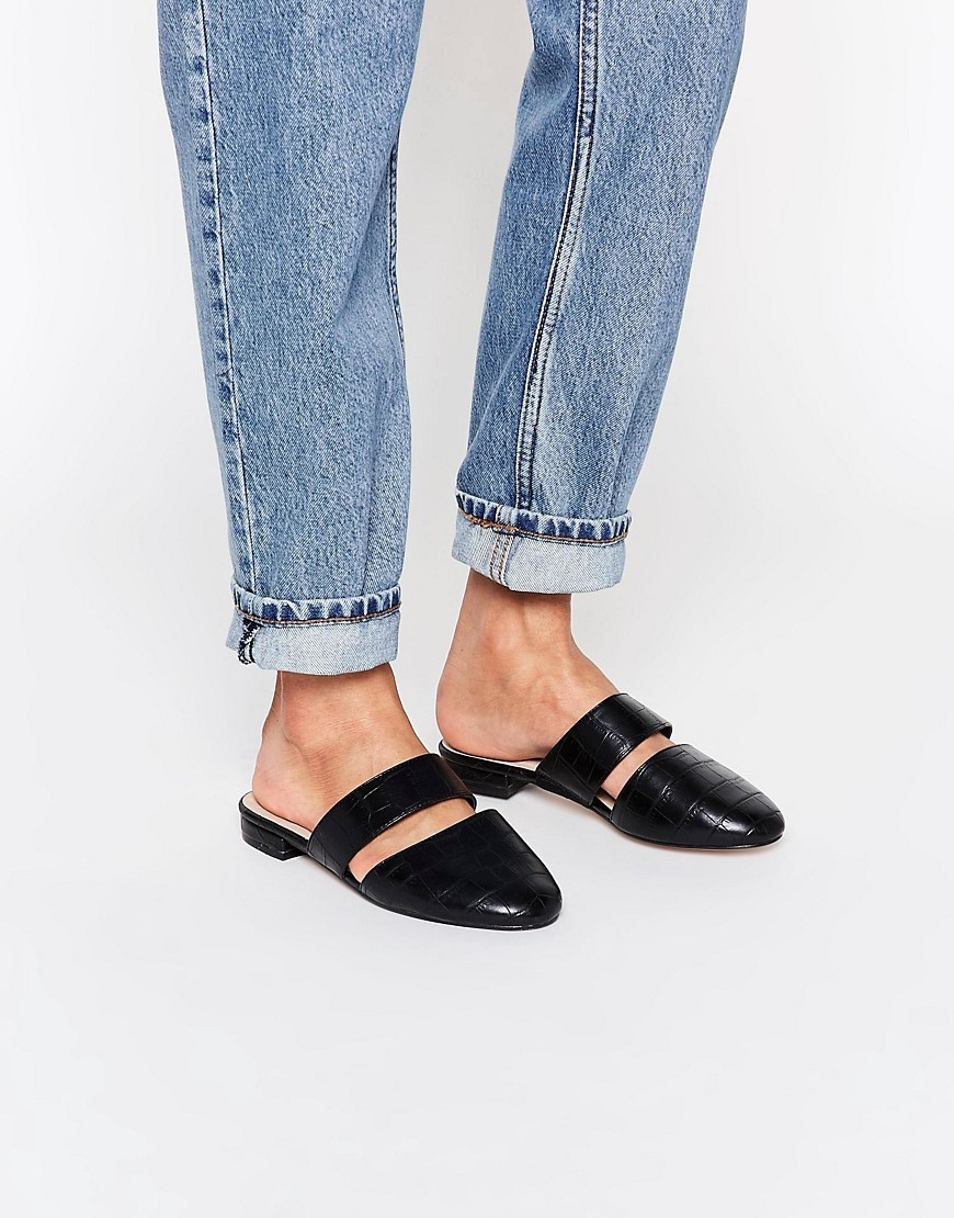 Limehouse Mule Ballet Flats Black - predominant colour: black; occasions: casual, creative work; material: faux leather; heel height: flat; toe: round toe; style: ballerinas / pumps; finish: plain; pattern: plain; season: s/s 2016; wardrobe: basic
