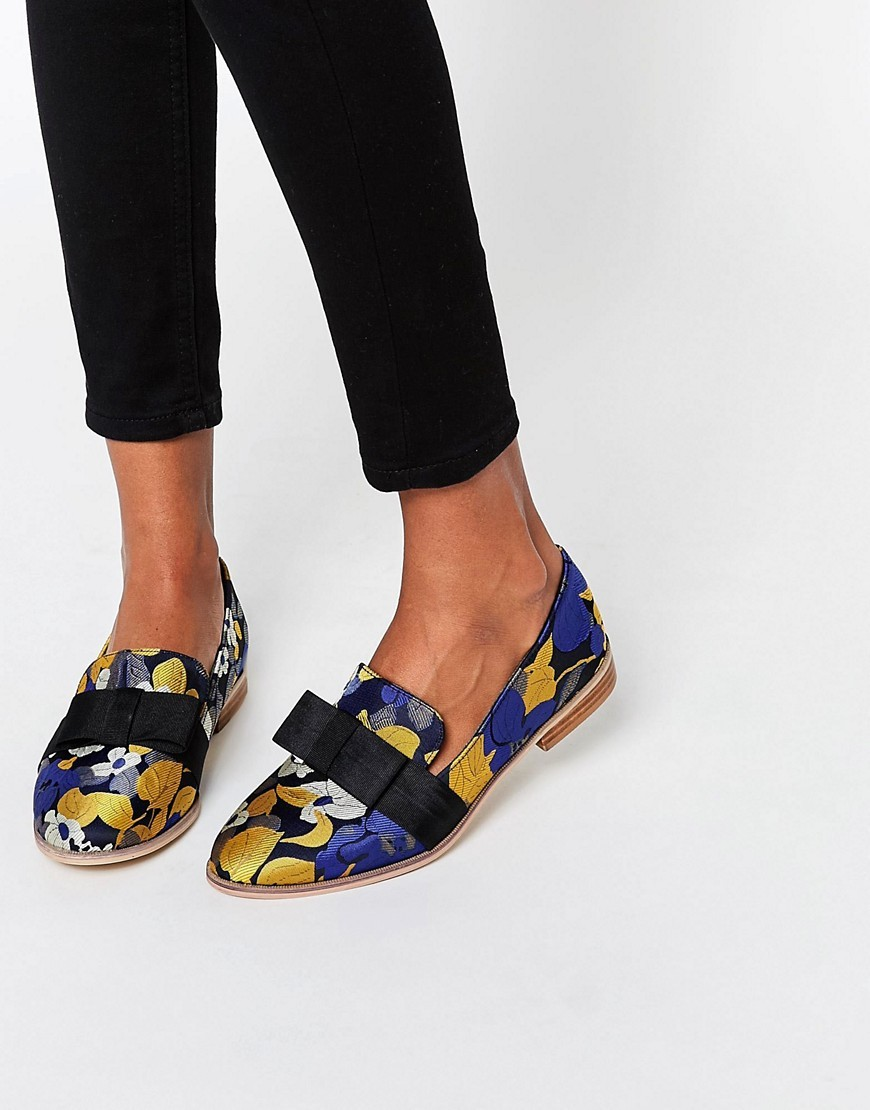 Missy Flat Shoes Jacquard - secondary colour: yellow; predominant colour: black; occasions: casual, creative work; material: fabric; heel height: flat; toe: round toe; style: ballerinas / pumps; finish: plain; pattern: patterned/print; multicoloured: multicoloured; season: s/s 2016; wardrobe: highlight