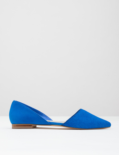 Cleo Flat Point Prussian Blue Pony/Suede Women, Prussian Blue Pony/Suede - predominant colour: royal blue; occasions: casual, creative work; material: suede; heel height: flat; toe: pointed toe; style: ballerinas / pumps; finish: plain; pattern: plain; season: s/s 2016; wardrobe: highlight