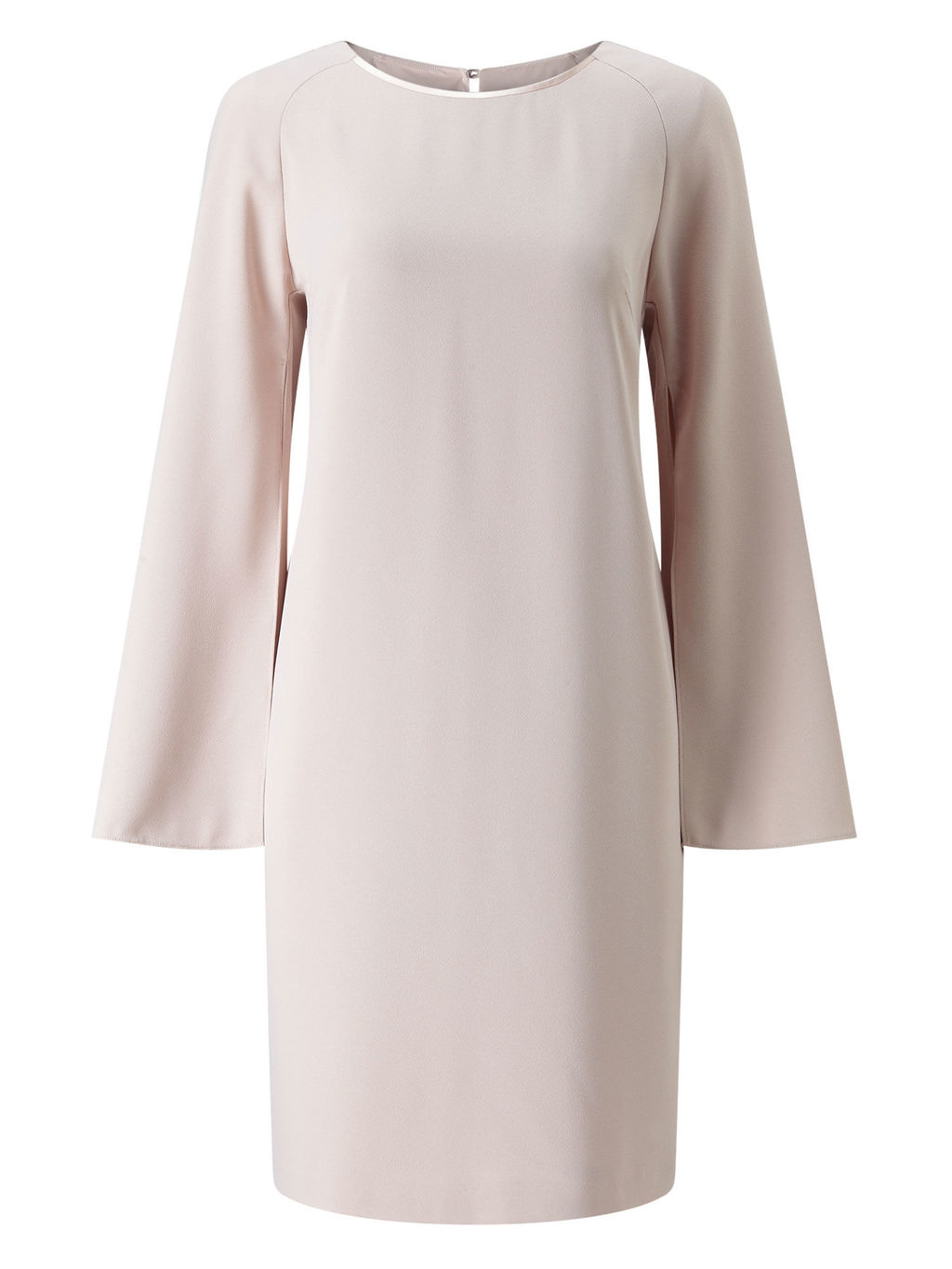 Split Sleeve Tunic - neckline: round neck; sleeve style: bell sleeve; pattern: plain; style: tunic; predominant colour: ivory/cream; fibres: polyester/polyamide - 100%; occasions: occasion; fit: body skimming; length: mid thigh; sleeve length: long sleeve; texture group: crepes; pattern type: fabric; season: s/s 2016; wardrobe: event